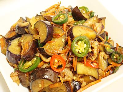 茄子と豚肉のハラペーニョ炒め
