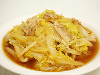 白菜と豚ばら肉の煮物