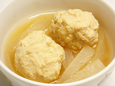 【塾後】大根と鶏団子の含め煮