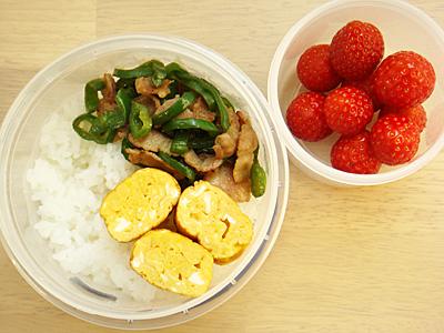 【塾前】豚肉&ピーマン炒め丼