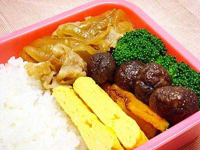 1/15 豚肉と玉ネギの甘辛炒め弁当