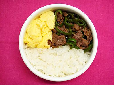 6/27 牛肉とピーマンの甘辛炒め弁当