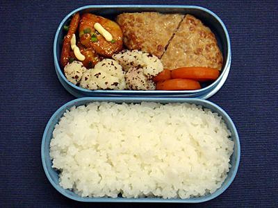 11/11 ハンバーグ&鶏の甘酢煮弁当