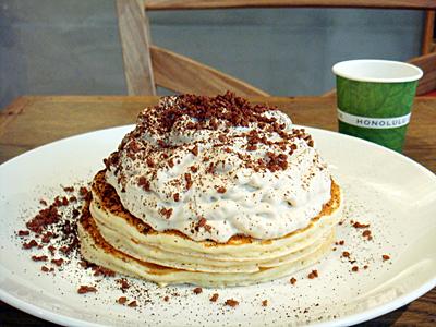 コナコーヒークリームパンケーキ@HONOLULU COFFEE