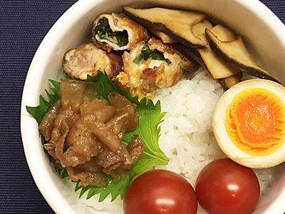 6/28 豚の紫蘇チーズ巻き弁当